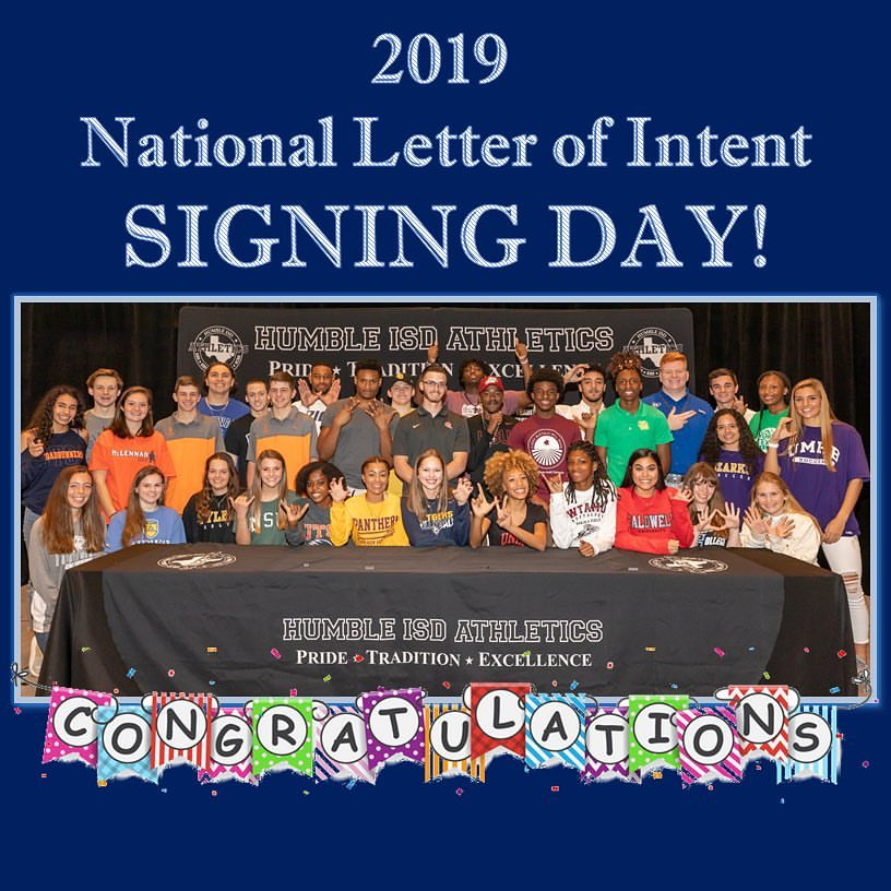 Class of 2019 Signees Athletic Commitments