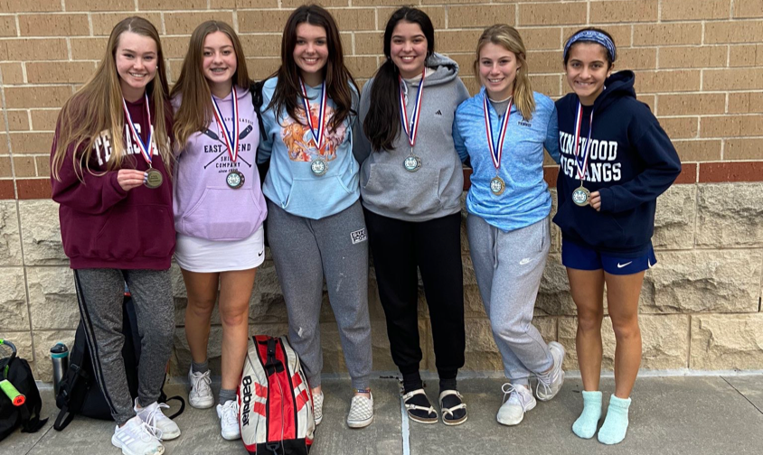 A few of the many KHS girls who medaled at the Humble ISD freshman tournament.