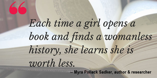 Myra Pollack Sadker, A Washington educator and writer who led the efforts of recognizing gender bias in our nation's classrooms.  Credit: National Women's History Museum