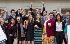 Former Congress-Bundestag Youth Exchange students posing for a fun picture on program