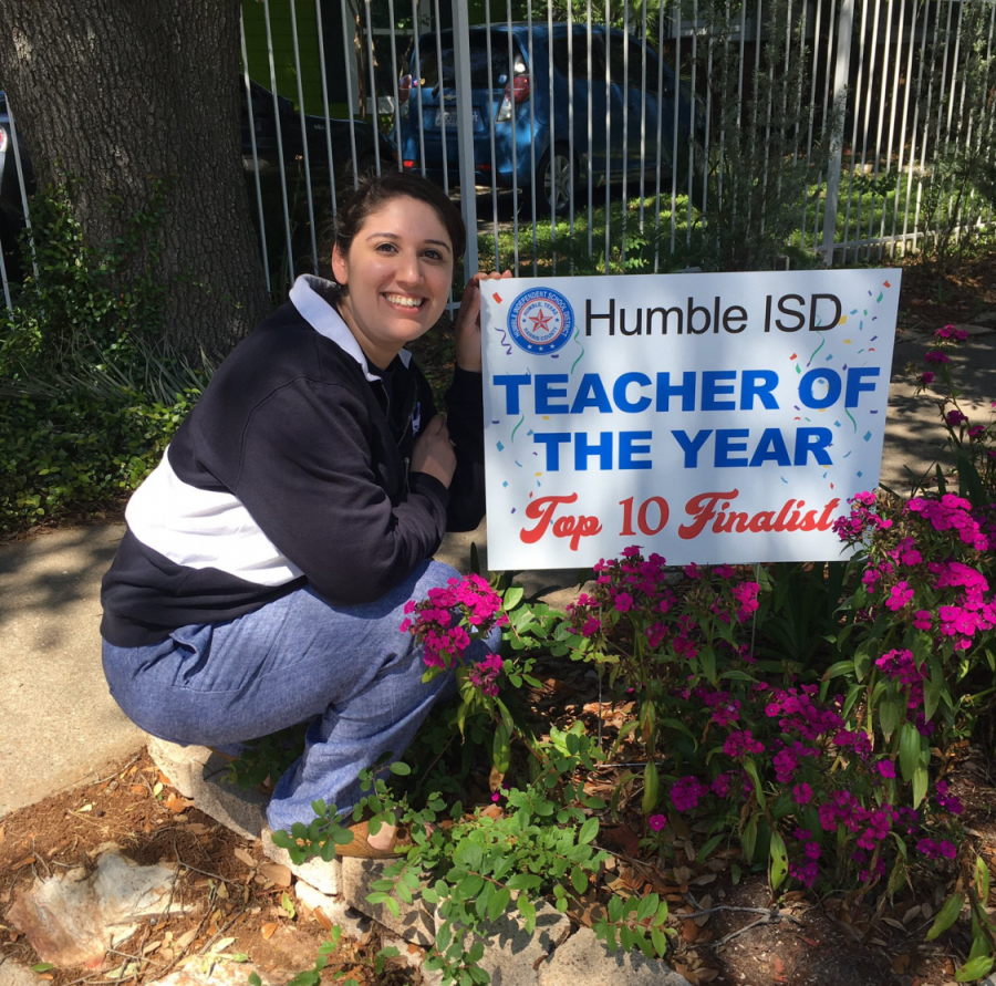 KHS's Anisha Razo Makes the Top Ten for Humble ISD's Teacher of the Year