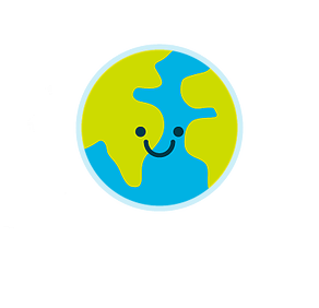 A cheerful & smiley earth representing the companys daily mission towards greater sustainability.