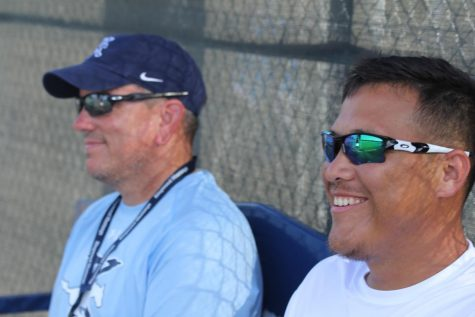 Coach Kevin McElroy and  Coach Pedro Ruiz always remaining positive.  Photo Credit: Cynthia Tijmes